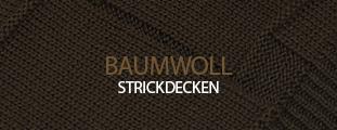 Baumwoll-Strickdecken